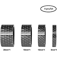 RXL SL espaciadores de Auriculares de Carbono 1-1/8, Espaciador de Horquilla de 4 pcs/Lote 5/10/15/20 mm Auricular de Bicicleta Arandela Kit de Espaciador de Carbono 3K Brillante(Negro)