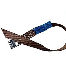 4x Correas de sujeción ideal para fijación en el portabicicletas, Klem Candado Seguridad, correas de amarrar, color marrón, Iapyx®