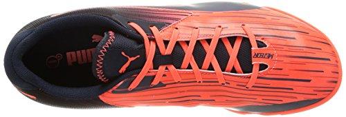 Puma  Meteor Sala LT, Chaussures de football hommes Orange (Lava Blast/Total Eclipse)
