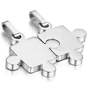 Cupimatch Colgante Puzzle Collares Pareja
