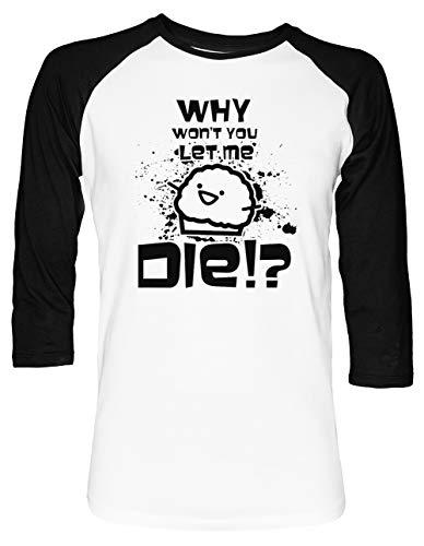 Death Muffin D Unisex Baseball T-Shirt 2/3 Ärmel Herren Damen Weiß Schwarz