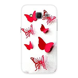 NEO WORLD Remarkable Red Butterflies Back Case Cover for Galaxy Core Prime
