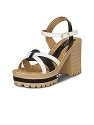 Kielz Womens Black Synthetic Shoes (KP-1762) - 37 EU