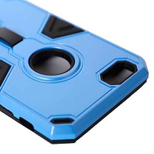 Fogeek® Schutzhülle für iPhone 6S Plus & iPhone 6Plus, strapazierfähig, 2 Schichten, multifunktionales Design mit Handgriff und Standfunktion, plastik, silber, iPhone 6s,iPhone 6 Babyblau