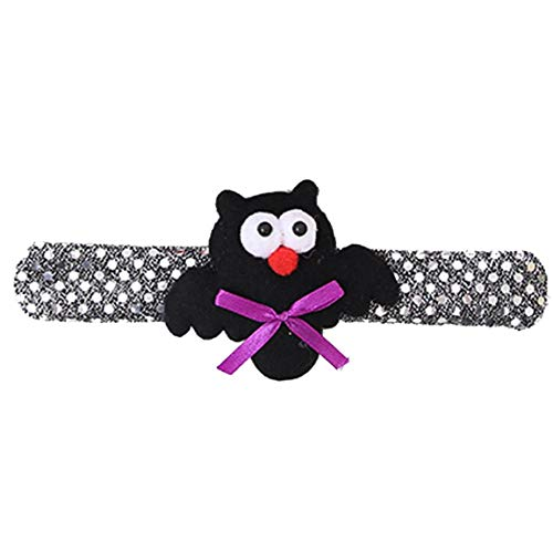 Moonuy Halloween Armband Günstige Armreifen Armband Mode Halloween Glow Slap Armband Party Decor Pat Kreis Hand Ring Kürbis Bat