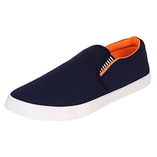 Axter Men's Canvas Blue Loafers & Mocassins Casual Shoes-8  available at amazon for Rs.198
