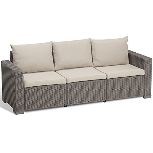 Allibert Lounge Sofa California 3-Sitzer, cappuccino/panama sand