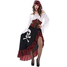 My Other Me - Disfraz de pirata bandana para mujer, S (Viving Costumes 203657)