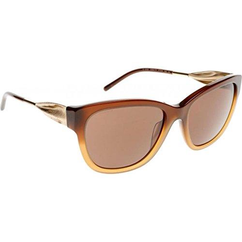 Burberry Unisex BE4203 Sonnenbrille, Gestell verlauf Haselnuss, Gläser: braun 336973), Large (Herstellergröße: 57)