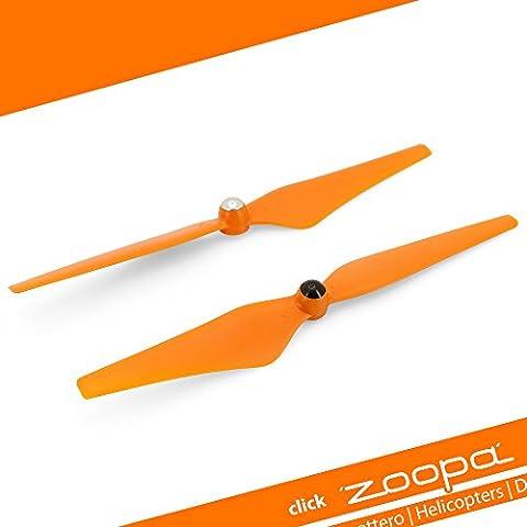 ACME - zoopa Q evo 550 Propeller Set | orange | 1xCW + 1xCCW | SELBSTSICHERND (ZQE550-02)