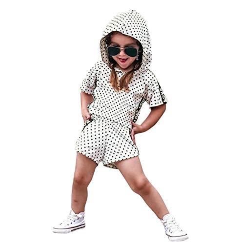 DIASTR Kleinkind Baby Mädchen Kurzarm Karikatur Tops Kinder Jungs Freizeit Cartoon Einfarbig Drucken Shirt Baumwolle Hemd T-stücke Outfits Sets (12m-5t)