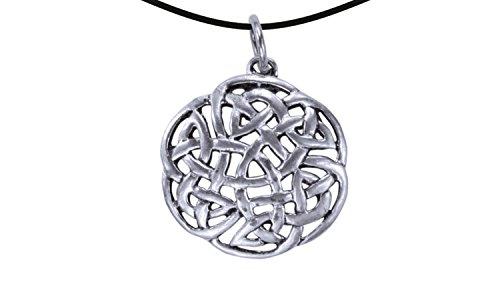Wikinger/LARP/keltisch/Mittelalter Anhänger, verzinnt und nickelfrei (Anhänger Keltischer Knoten 2 silber) (Ritter Krieger Kostüme)