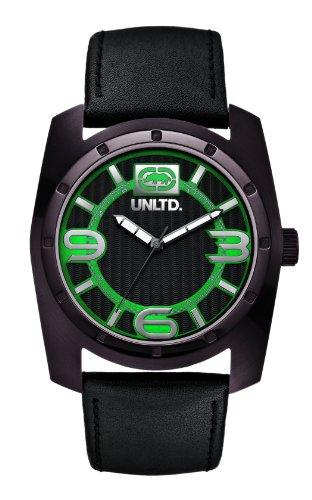 Marc Ecko E09508G2 - Reloj de Pulsera Hombre, Piel, Color Negro