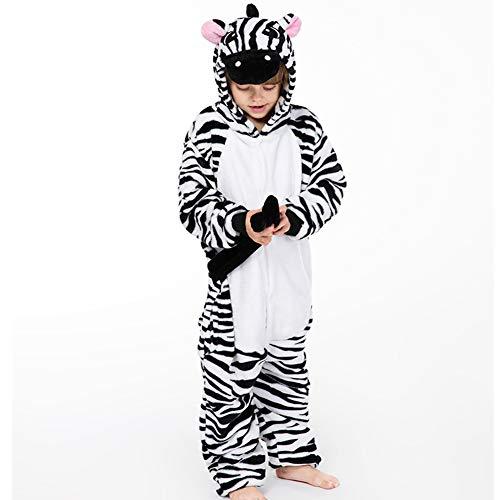 Kostüm Sleepsuit Pyjamas - BERTHACC Jumpsuit Tier Karton Fasching Halloween Kostüm Sleepsuit Cosplay Overall Pyjama Schlafanzug Kid Unisex Nachtwäsche,Schwarz,140