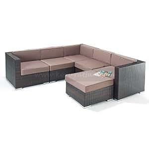 Budget Rattan Corner Sofa