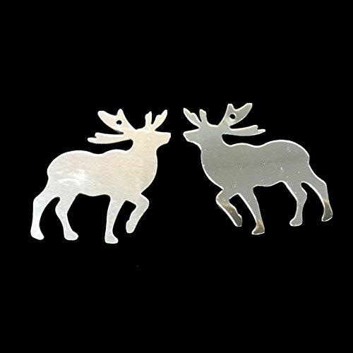 Merssavo Girando Rotary Metal Carrusel Luz Sostenedor de Vela del Té Luces de Pie Regalos de Navidad