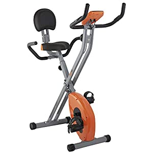 41oDB wU5iL. SS300  - Bodyfit Folding Magnetic Exercise Bike LCD Display Home Workout Equipment with Time, Speed, Distance, Pulse & Calories Burned Measures