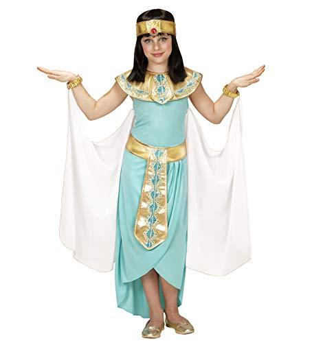 Nerd Clear Cleopatra Kostüm für Kinder | 4-teilig: Kleid mit Gürtel, Armbänder, Stirnband, Umhang | ideal für Fasching & Karneval: Größe: 158
