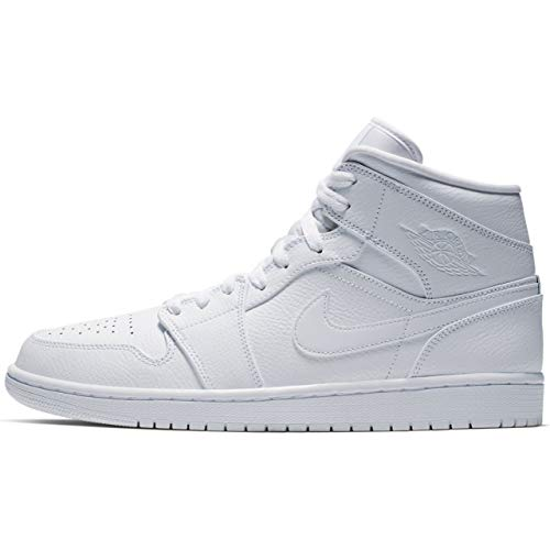 Nike Herren AIR Jordan 1 MID Basketballschuhe, Weiß White 129, 46 EU