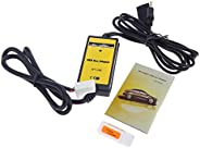 Decdeal Auto Car USB Aux-in Adapter MP3 Player Radio Interface for Toyota Camry/Corolla/Matrix 2 * 6Pin
