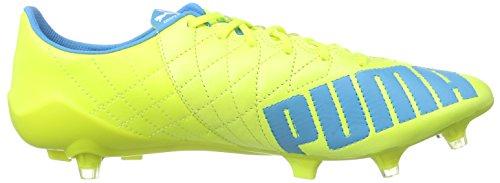 Puma Herren Evospeed Super Light Lth Firm Ground Fußballschuhe Gelb (safety yellow-atomic blue-white 04)