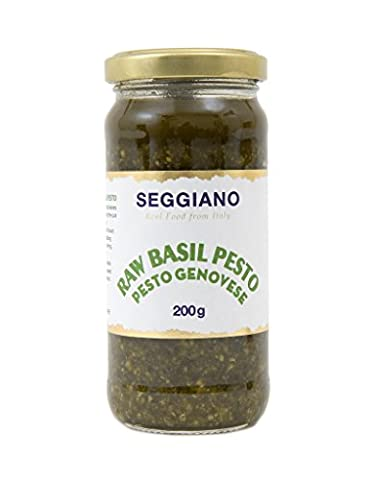 Seggiano Raw Basil Pesto, 200 g, Pack of