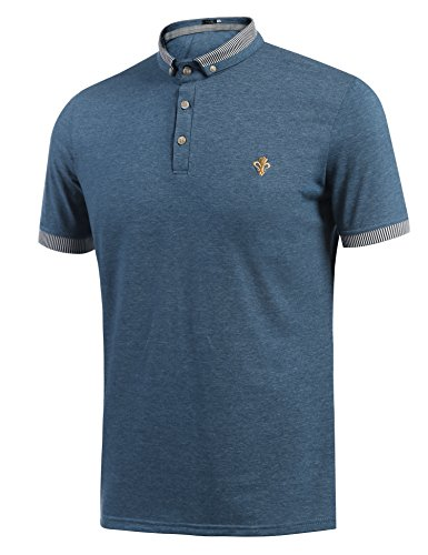 Coofandy Mens Polo T Shirts Casual Short Sleeve Collared Tops