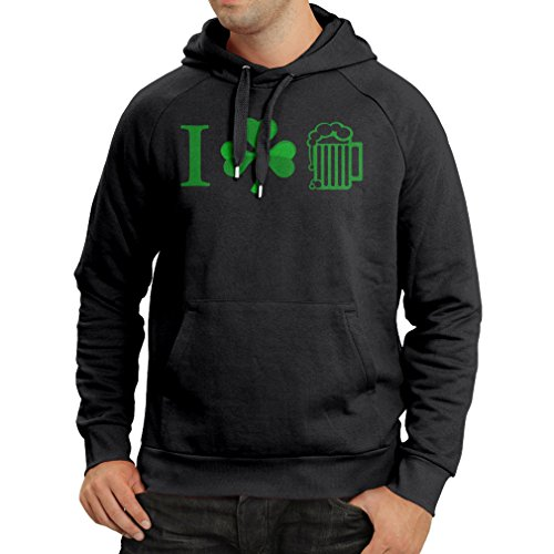 Kapuzenpullover The Symbols of St. Patrick's Day - Irish Icons (XX-Large Schwarz Mehrfarben)