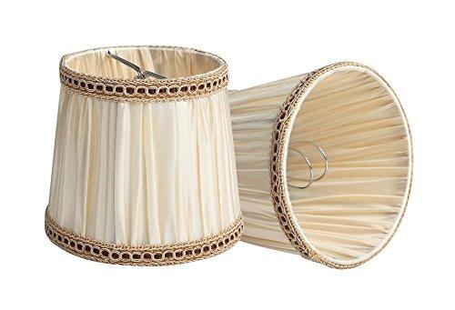 Splink 2pcs estilo europeo clip-on para lámpara (tela Handmade vela lustre lámpara de mesa aplique pared 100* 125* 110MM