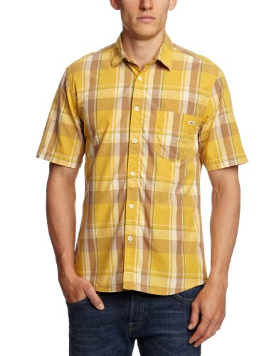 Jack & Jones One F Get Van - Camicia, manica corta, uomo Giallo (Yolk Yellow)