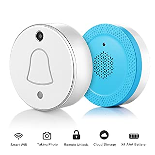 ABEDOE Wireless Doorbell Camera, WIFI Doorbell Camera Monitor RF Receiver Chime- Automatically Takes Picture When Pressing Support Android IOS Free Cloud Storage