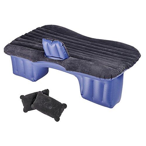 Pinty Auto Air Bed aufblasbares Bett Rücksitz Luftmatratze aufblasbar Matratze Luft Matraze Luftbett Car Bed Mattress mit 2 Kissen und Pumpe für Reisen Camping Rest Sofa SUV Universal (Schwarz)