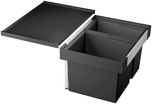 Blanco Flexon II 60/2, Müllsystem für die Abfalltrennung in der Küche, mit 2 Mülleimern (30 l/19 l), zur Montage in der Schublade eines 60 cm-Unterschranks; 521471