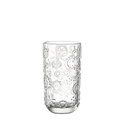 Leonardo 014783 Set 6 Glas Becher groß Fiorita, klar