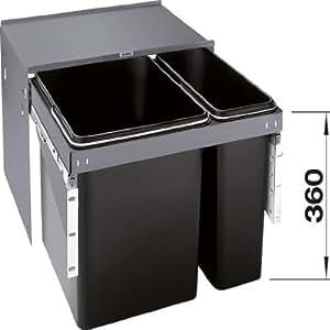 Blanco - Poubelles de cuisine - Blancoselect ECO 60/2 1 poubelle 17L+1 poubelle 35L