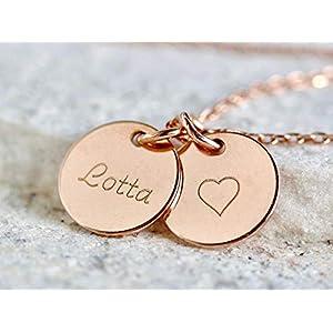 Namenskette 925er Gravurkette Silberkette,Familienkette,Kindernamen,Geschenk zur Geburt,Personalisierte Kette