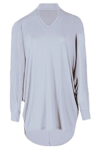 BEAULOOK - Maglia a manica lunga - Donna Light Grey
