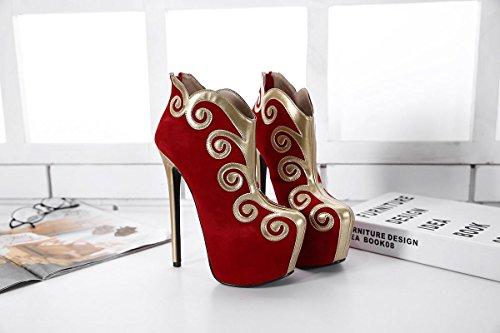 LvYuan-mxx Talons Femmes / Plate-forme imperméable épais / Nuages Style Chinoise / Extérieur Bureau & Carrière / Soirée & Soirée / Casual Talon Stiletto RED-40