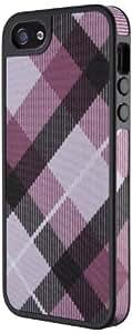 Speck SPK-A1594 FabShell Mega Plaid Case für Apple iPhone 5 Mulberry/schwarz