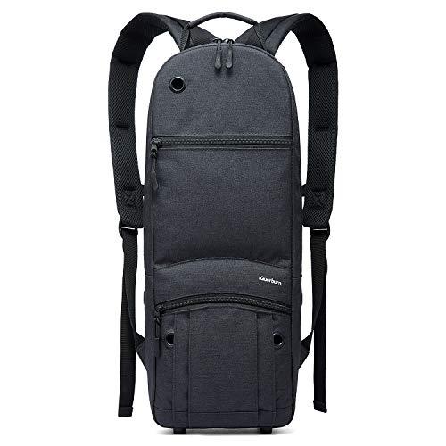 iGuerburn Rucksack für Größe D Tank (2.0L) Sauerstoffflasche O2 Sauerstoff Tank Tasche Träger für Zylinder (Schwarz)