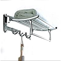 FORTUNE Classic Stainless Steel Folding Towel Rack for Bathroom | Towel Stand | Towel Hanger | Bathroom Accessories (18…