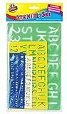Artbox 4 X Set Pochoirs Lettres Alphabet et Nombres