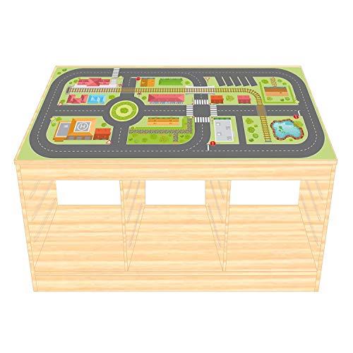 nikima Schönes für Kinder IKEA TROFAST Film de Jeu Autocollant pour Chambre d'enfant en Bois de Ville (Meubles Non Inclus)