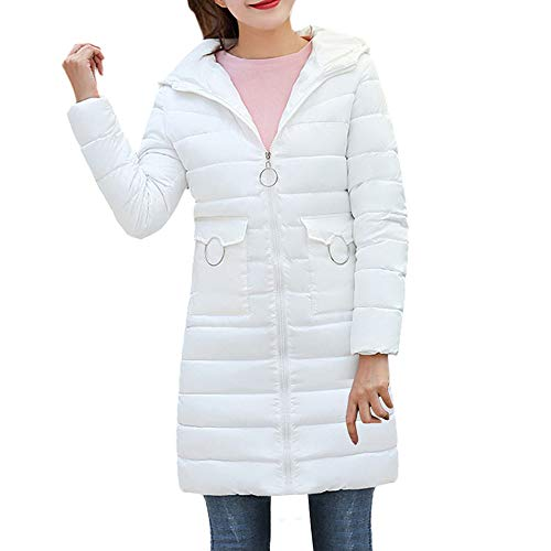 MIRRAY Damen 2018 Winter Warme Mantel mit Kapuze Verdicken Warme Dünne Jacke Langen Mantel