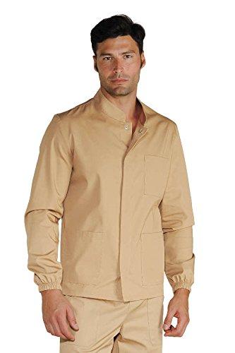 Isacco medico-Camicia a maniche lunghe, da uomo bianco XL