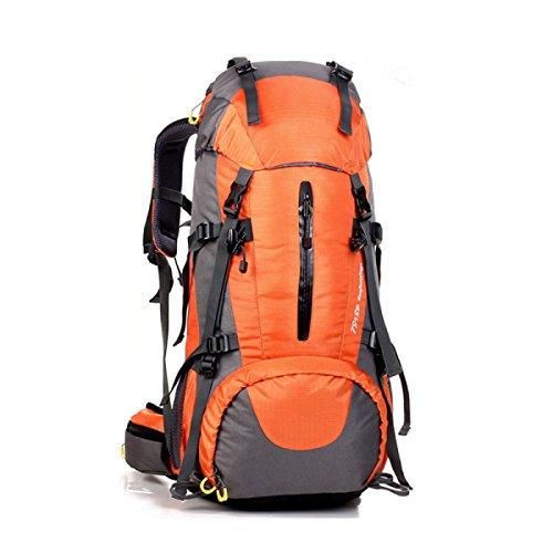 Maschio E Femmina Outdoor Zaino Grande Capacità Alpinismo Camping Pacchetto Sportivo,Red Orange