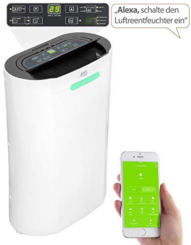 Sichler Haushaltsgeräte - Deshumidificador para interiores 20 l/día, para Amazon Alexa y Google Assistant...