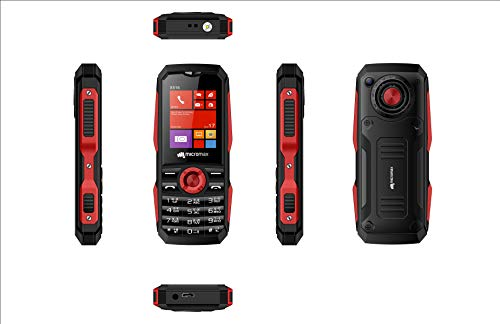 Micromax X516 (mAh 1750, Torch Blink on Call, Auto Call Recording) (Black + Red)