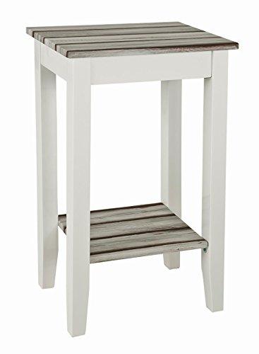 HAKU Möbel 51147 Konsole 40 x 30 x 69 cm, weiß / maritimo kiefer -