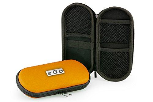 Aufbewahrungs-Etui Ego für E-Zigaretten und E-Shishas ideal als Tasche Hülle Bag Case zum Schutz oder für Liquids und Zubehör Orange